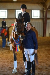 Lauren Sprieser and one of her dressage students