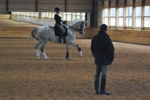 Lauren Sprieser training with Scott Hassler